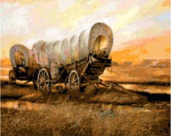 Covered Wagons Cross Stitch Chart