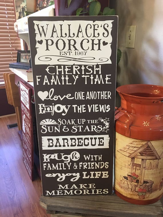 Well-liked Patio/Porch Rules Signs - RugzNJones Backyard Signs BJ78