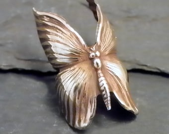 Brass Butterfly Ear Cuff -  BUTTERFLY BEAUTY  -  Golden Butterfly Ear Band Wrap