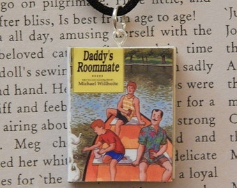 Daddy's Roommate Book Necklace