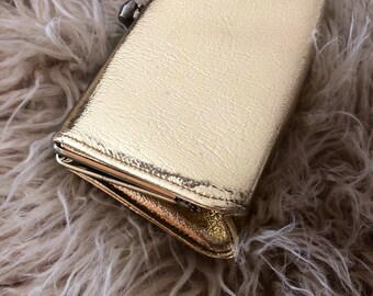 Vintage clutch, gold lame' clutch
