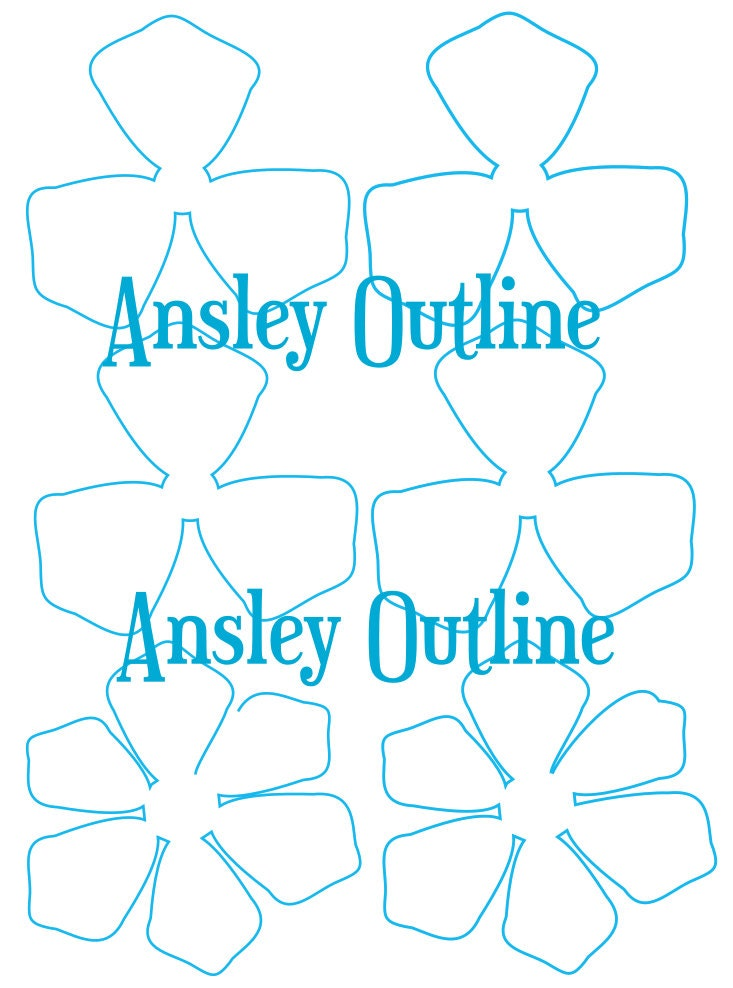 It's just a graphic of Massif Printable Flower Template