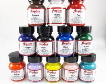 Starter Set -Pastel Mix - Angelus Acrylic Leather Paint 12pk