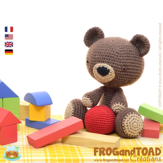 Amigurumi Crochet TEDDY BEAR Pattern PDF / Häkeln Teddybär