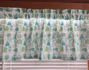Apron Strings Kitchen Valance or Ruffled Sleeves Topper ~ 42 Inches Wide