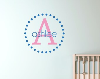 Kids Name Wall Decal - Child Name Wall Decal - Child's Name Wall Art 0043