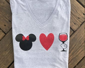 Minnie Loves Wine / Food and wine / Epcot Shirt