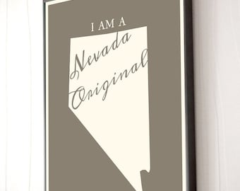 "No Place like Nevada Wall Art - Limited Run; 16""x20"""