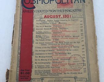 Antique Cosmopolitan Magazine c. August 1901 - SALE