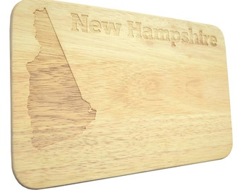 Brotbrett New Hampshire USA Breakfast Board Engraving-Breakfast board-engrave