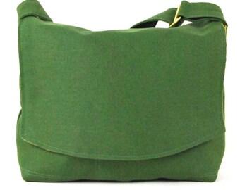 Organic Hemp Messenger Bag, Small