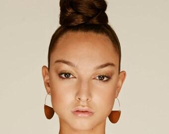 Boho earring, hoops earrings, half moon earring, tribal earrings, gypsy earring, big hoops, boho earrings