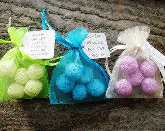 12 Seed Bomb Favors WITH personalized tag