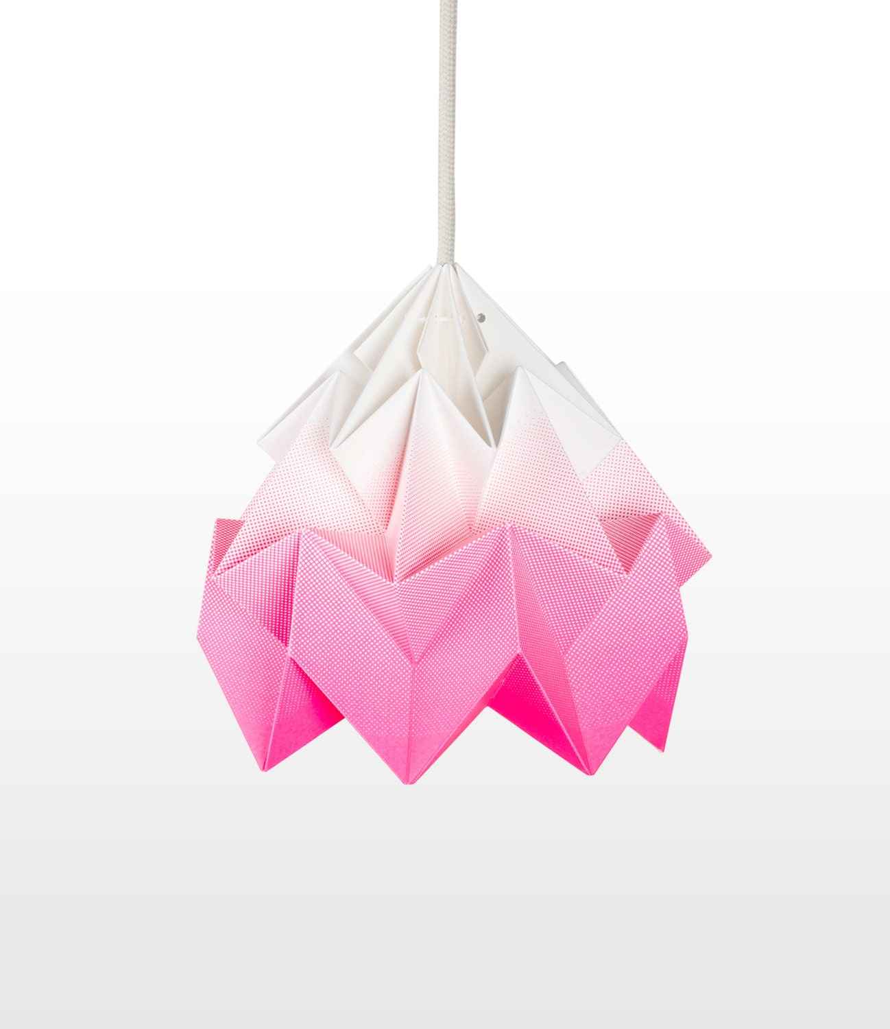 moth origami lampshade gradient pink. Black Bedroom Furniture Sets. Home Design Ideas