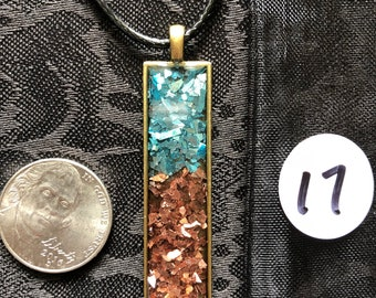 Skinny rectangle pendant