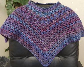 Handmade Childs Crochet Poncho