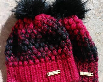Adult puff Beanies non slouch