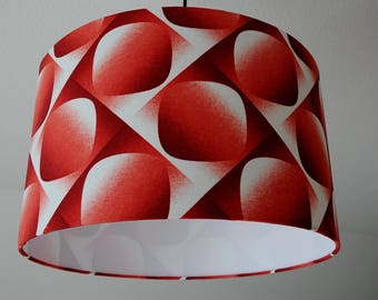 "Lampshade ""Retro Art"" (red)"