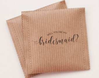 Will you be my bridesmaid Tea bags - Custom text and design available - Wedding favour tea bag - Guest Favor Thank you
