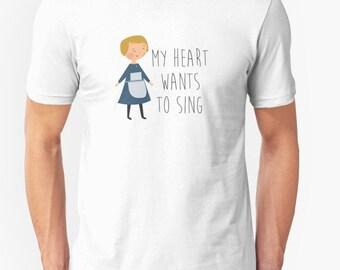"Sound of music ""Maria"" tshirt - graphic tee - musical t shirt - white cotton - gift by Laura Wright Studio"
