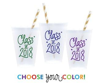 Graduation Reusable Cups | Choose YOUR Color!