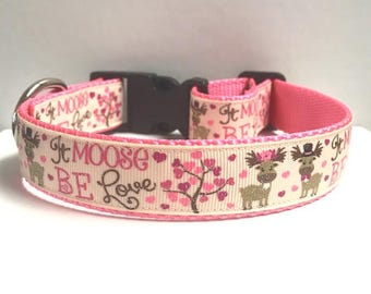 "1"" It Moose be Love Collar"