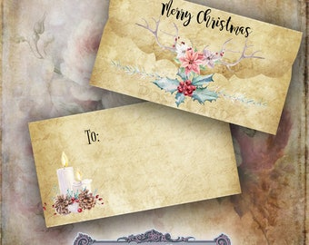 3 Christmas Envelopes