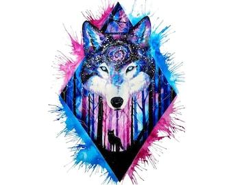 Wolf Temporary Tattoo T056