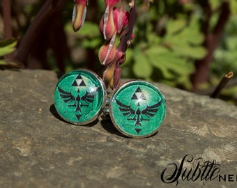 Green Legendary Crest Cufflinks