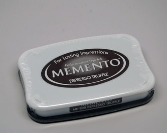 Memento Dye Ink Stamp Pad -- Espresso Truffle -- NEW Color Great for Copic Markers