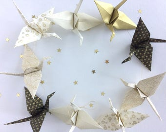 Garland origami cranes in the Japan