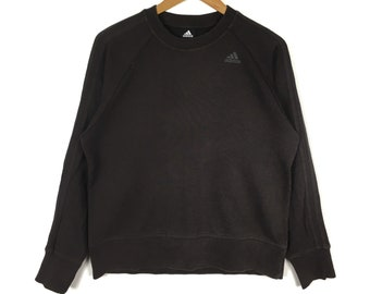 ADIDAS EQUIPMENT Brown Pullover Sweatshirt Medium Size 90s Hip Hop Swag Casual Trefoil Sportswear Gift Vintage Streetwear