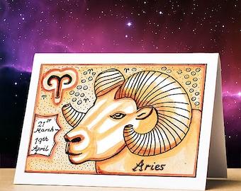 Astrological birthday cards, unique designs, original artwork