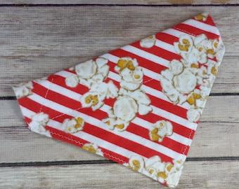 Popcorn Dog Bandana / Striped Cat Bandana / Stripe Dog Bandana / Dog Scarf / Over the Collar / Dog Lover Gift / Food Dog Bandana / Neckwear