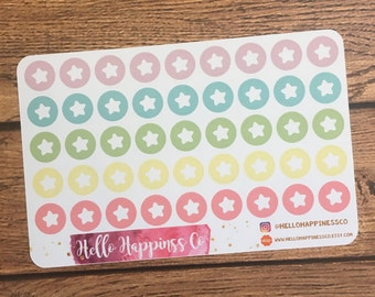 Star Icon Stickers - Important Stickers - Reminder Stickers - Planner Stickers - Functional Stickers