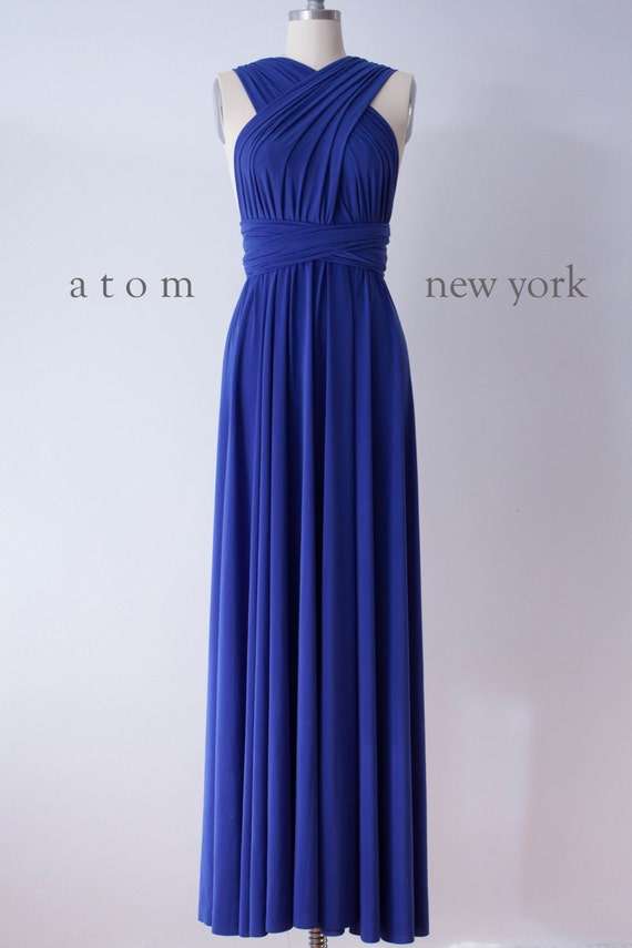 Royal Blue LONG Floor Length Ball Gown Infinity Dress
