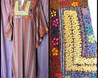 MASKIT caftan / vintage Maskit caftan / fits S-M / 70s caftan / 70s Israeli caftan / vintage embroidered caftan