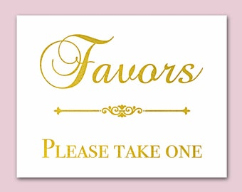 Wedding Favors For Guests, Gold Foil Signs For Weddings Decor, Custom Signs, Reception Ideas