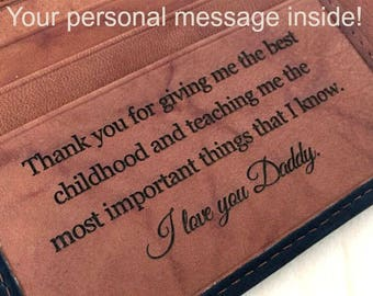 Custom mens RFID wallet • personalized mans wallet • genuine leather wallet • groomsman gift• Father of the groom • monogram • Blk/toff*7751
