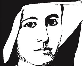 St. Faustina digital print