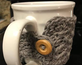 Mug with Crocheted Cozy