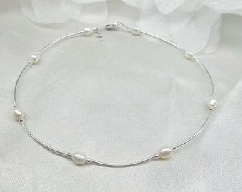 White Pearl Anklet Cross Anklet Ankle Bracelet Silver Cross Ankle Bracelet or White Pearl Bracelet 100% 925 Sterling Silver BuyAny3+1Free