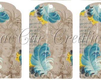 French Style Marie Antoinette Gift Tags Printable