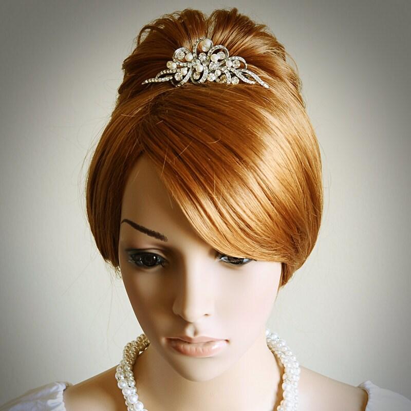 Wedding Vintage Style Hair Accessories: AUDREY Vintage Style Wedding Bridal Tiara Victorian Wedding