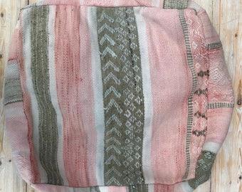 P I N K | Morrocan Kilim Floor Pillow Pouf Floor Cushion Bohemian Soft Furnishings