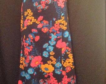 1970s Vintage Maxi Dress / 70s Floral Maxi Dress