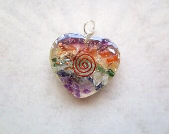7 Chakra Heart Gemstone Pendant