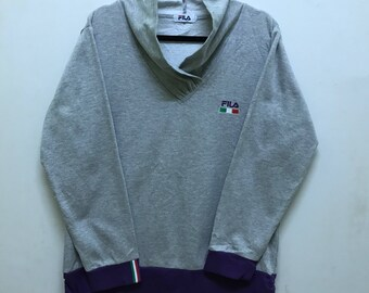 Fila Pullover Spellout Embroidered With Italy Flag