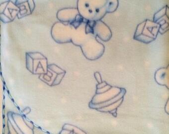Baby blanket - fleece baby blanket - receiving blanket - nap blanket - toddler blanket - lightweight blanket - soft baby blanket - bears