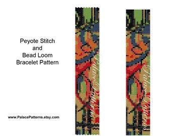 Bead Loom and Peyote Stitch Bracelet Pattern - 112 - Bead Loom Bracelet Pattern - Peyote Stitch Bracelet Pattern